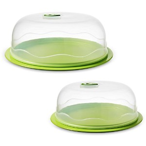 Ozeri INSTAVAC Ready-Serve Domed Food Storage Container, BPA-Free 4-Piece Nesting Set with Vacuum...