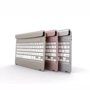 F17 Wireless Bluetooth Keyboard with Stand for iPad Air 2 Pro 9.7