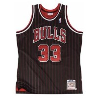 MITCHELL & NESS NBA AUTHENTIC COLLECTION JERSEY メンズ Chicago Bulls | Pippen, Scottie | Black | 1995 ...