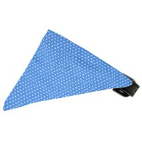 Baby Blue Swiss Dots Bandana Pet Collar Black Size 14