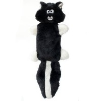 ZippyPaws Zingy 3-Squeaker No Stuffing Plush Dog Toy, Skunk by ZippyPaws