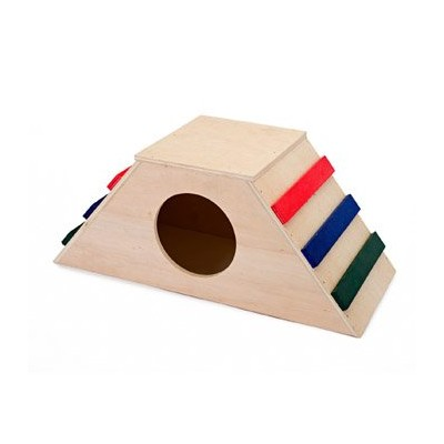 Penn-Plax 4 Step Play Wood Hide Away for Small Animals by Penn-Plax