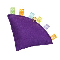 Ethical Products Spot Pillow Puff Tabbies Catnip & Bell Wedge Durable Cat Toy