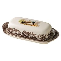 Spode Woodland Mallard Covered Butter Dish by Spode