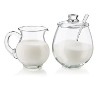 Libbey 4 Piece Glass Sugar and Creamer Set, Clear by Libbey