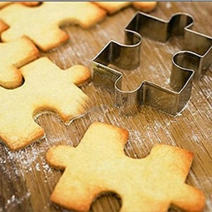 GXHUANG Game Puzzles Cookie Cutter Set, Set of 2 - Stainless Steel (Puzzles) by GXHUANG