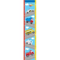 Wall Pops WPG0622 Transportation Growth Chart Wall Decals, 9.75-inch by 48-inch [並行輸入品]