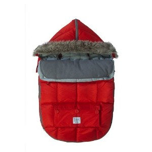 7AM Enfant Le Sac Igloo Footmuff, Converts into a Single Panel Stroller and Car Seat Cover, Red,...