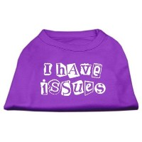 Mirage Pet Products 51-29 XSPR I Have Issues Screen Printed Dog Shirt Purple XS - 8