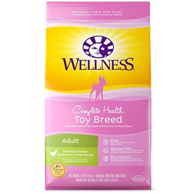 Wellness Complete Health Toy Breed Chicken Pea Natural Pet Dry Dog Food 4lbs