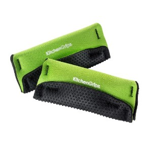 Kitchen Grips 2-Piece Loop Handle Holders, Black/Lime by Kitchen Grips Inc