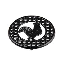 Home Basics Cast Iron Rooster Trivet (Black) by HDS Trading