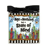 "Suzy Toronto板紙コースター、"" Age is nothing but a state of mind """