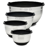 Top Rated Bellemain Stainless Steel Non-Slip Mixing Bowls with Lids, 4 Piece Set Includes 1 Qt., 1...