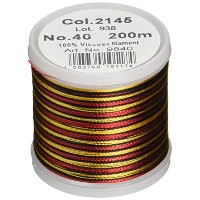 Madeira Rayon Thread Size 40 200 Meters-Gold/Black/Red (並行輸入品)