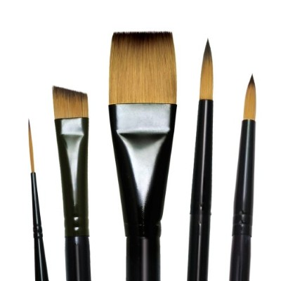Majestic Royal and Langnickel Short Handle Paint Brush Set, Deluxe Watercolor, 5-Piece by Majestic Athletic