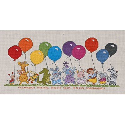 Animals with balloons(クロスステッチキット)