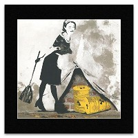 BANKSY - Sweeping It Under The Carpet Mini Poster - 40x40cm