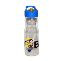 Zak! Designs Tritan Water Bottle with Straw and Thor Graphics, 25-Ounce 水筒 クリア