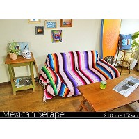 RUG&PIECE Mexican Serape made in mexcico ネイティブ メキシカン サラペ メキシコ製 センターマーク入り 210cm×150cm