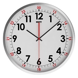 Unity Stainless Steel Baton Silent Sweep Non-Ticking Wall Clock, 12-Inch [並行輸入品]