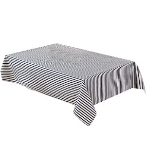 Zhhlinyuan 良質 Linen Dining Table Cloth Cover 家 Decor Rectangle Stripe Tablecloth