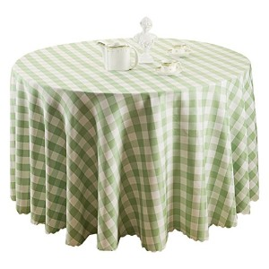 Zhhlaixing 高品質の Modern Home Pastoral Plaid Tablecloth Washable Round Dining Table Cloth