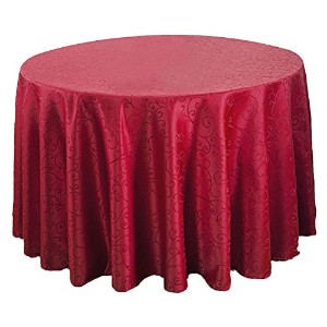 Zhhlinyuan 良質 Luxury Table Cloth Skirt Fashion Durable Round Tablecloth ホーム Decor 001