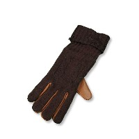 【WINTER SALE 50%OFF|57,240円→28,620円】 ETRO エトロ KNIT + LEATHER GLOVE{-}{PR2_50}