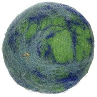 One Pet Planet 86011 3.5-Inch Wooly Fun Ball Dog Toy by One Pet Planet