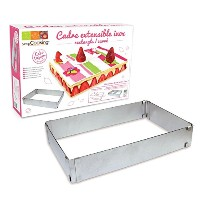 ScrapCooking Adjustable Rectangle Frame for Cake, Stainless Steel by ScrapCooking
