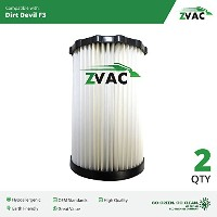 2Dirt Devil f3HEPAフィルタ汎用パーツby ZVac。交換部品番号3250435001Fits : Dirt Devil BreezeまたはジャガーCanisters...