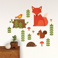 Petit Collage Wall Decal, Woodland by Petit Collage [並行輸入品]