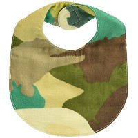 ikue ベビーガーゼスタイBaby Bib Animal camo Green