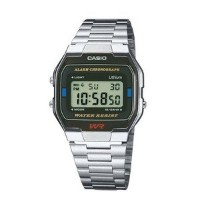 腕時計 Casio A163WA-1QGF Mens Collection Classic Steel Watch【並行輸入品】
