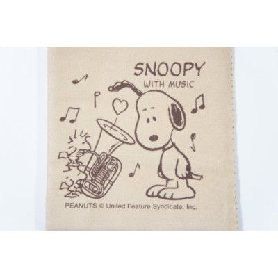 SNOOPY with Music SCLOTH-TU スヌーピーとチューバ柄 エグゼクティブ・ラグジュアリー・クロス