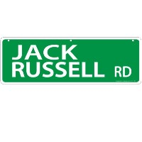 Imagine This Jack Russell Street Sign by Imagine This