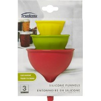 Trudeau Silicone Funnels, Set of 3 by Trudeau