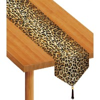 Beistle 57848 Printed Leopard Print Table Runner, 11-Inch by 6-Feet by Beistle