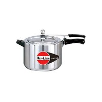 HAWKINS?Classic CL8T 8-Liter New Improved Aluminum Pressure Cooker, Small, Silver [並行輸入品]