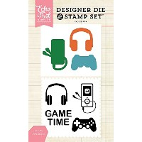 Echo Park Die & Stamp Combo Set-Game Time