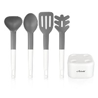 High Quality 52466 4-piece Heat Resistant Cooking Utensil Set with Holder