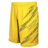 Michigan Wolverines adidas Aftershock ClimaLite Shorts メンズ Maize NCAA アディダス バスパン カレッジ