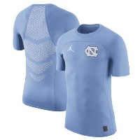 North Carolina Tar Heels Nike 2017 HyperCool Fitted Player Top メンズ Light Blue ジョーダン NCAA Tシャツ カレッジ...