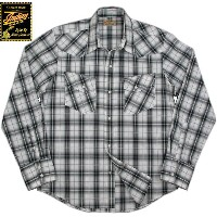 INDIAN MOTORCYCLE/インディアンモーターサイクル DOBBY OMBRE CHECK L/S WESTERN SHIRT ドビーオンブレーチェック 長袖ウェスタンシャツ OFF...