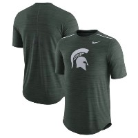 Michigan State Spartans Nike 2017 Player Breathe Dri-FIT Top メンズ Heather Green ナイキ NCAA Tシャツ カレッジ