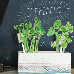 """URBAN GREEN MAKERS ベジタブルキット04""""ETHNIC""""【アーバングリーンメーカーズ】【DIYキット】【栽培キット】【ガーデニング】【ugm】"""