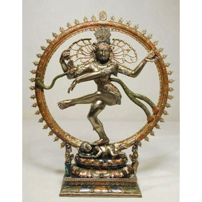LORD NATARAJA Dancing Shiva Statue, Real Bronze Powder Cast 10 1/2-inch by Veronese