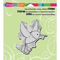 "Stampendous Cling Rubber Stamp 3.5""X4"" Sheet-Penpattern Hummingbird (並行輸入品)"