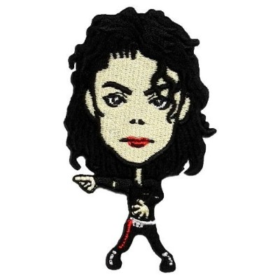 1.8 x 3.2MICHAEL JACKSON Music MJ Cartoon DIY Embroidered Sew Iron on Patch by Poly patch